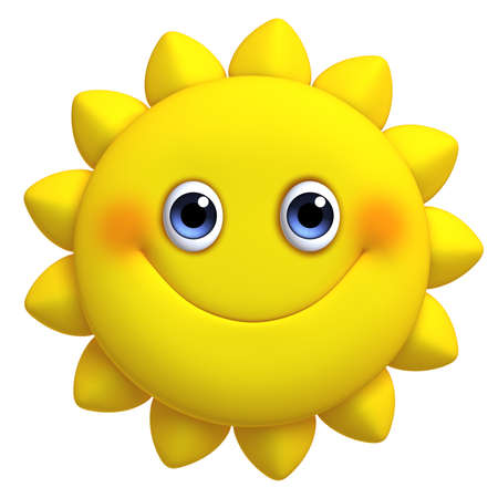 3d cartoon cute sun Stock Photo - 19631607