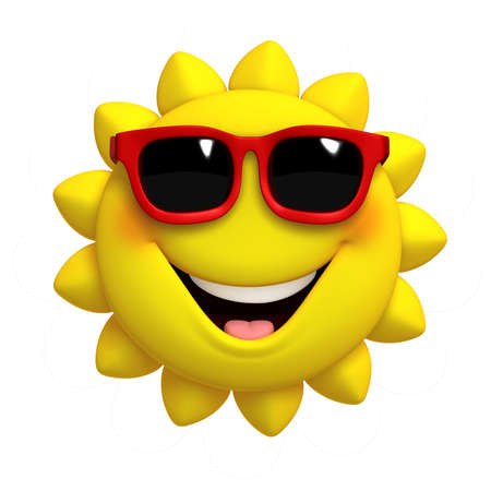 sun: 3d cartoon cute sun