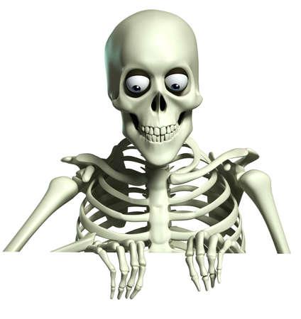 3d cartoon scheletro Archivio Fotografico - 22236375
