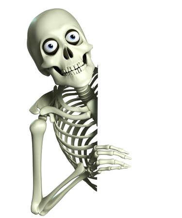 spooky eyes: 3d cartoon skeleton