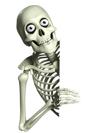 Esqueleto de dibujos animados en 3D Foto de archivo - 22236379