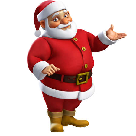 cartoon character: 3d cartoon santa