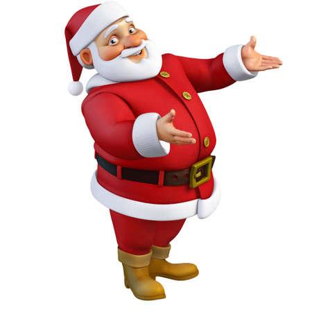 cartoon present: 3d cartoon santa