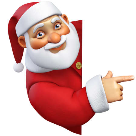 funny christmas: 3d cartoon santa