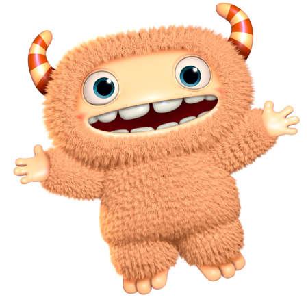 bigfoot: 3d cartoon monster