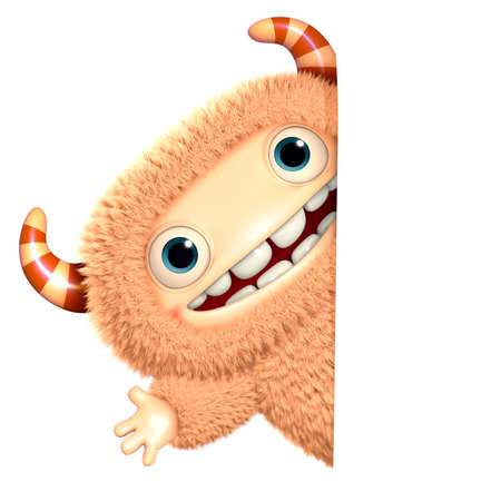 abominable: 3d cartoon monster