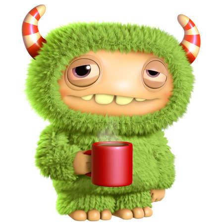 3d cartoon monster Banco de Imagens - 27624846