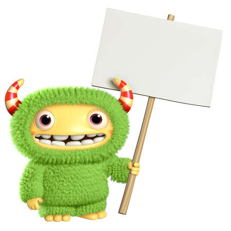 3d cartoon monster Stock Photo - 27624848
