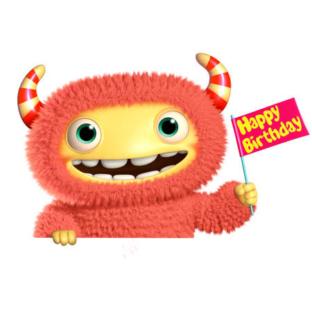 3d halloween: 3d cartoon monster