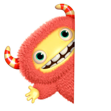 3d cartoon monster photo