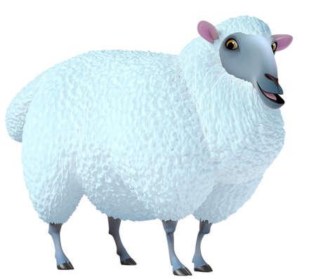 lamb cartoon: blue sheep Stock Photo