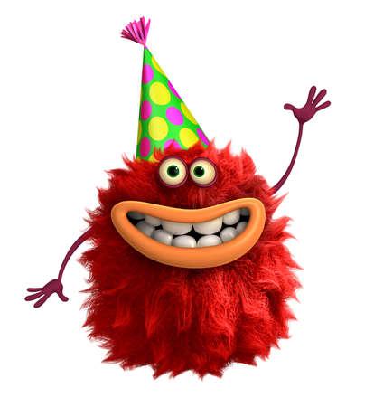 freaky: cartoon hairy monster 3d