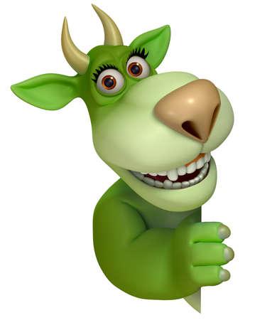 abominable: green cartoon monster 3d