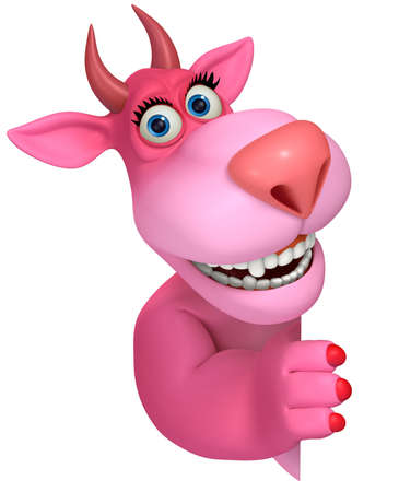 pink cartoon monster 3d