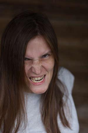 Horror monster looks and smiles terribly Reklamní fotografie