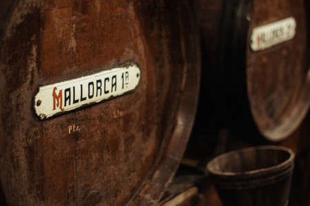 Barrel of wine from Majorca, Spain photo