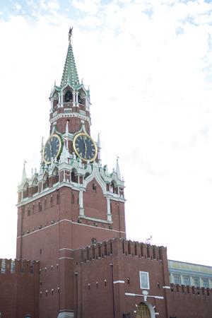 spasskaya: Moscow Kremlin, Spasskaya Tower, Red Square at dawn
