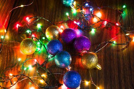 Weihnachtshintergrund Standard-Bild