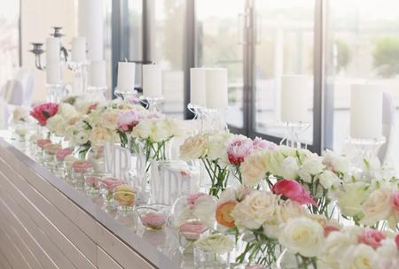 Mariage décoration de la table Banque d'images - 45164354