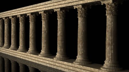 doric: Classic columns on black background