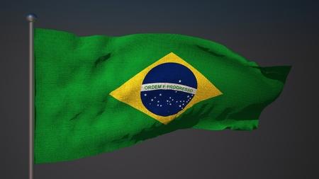 3d flag: 3D flag of Brasil