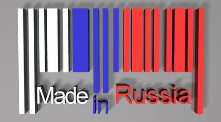 made in russia: 3D barcode made in Russia