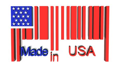 fabrication: 3D barcode made in USA