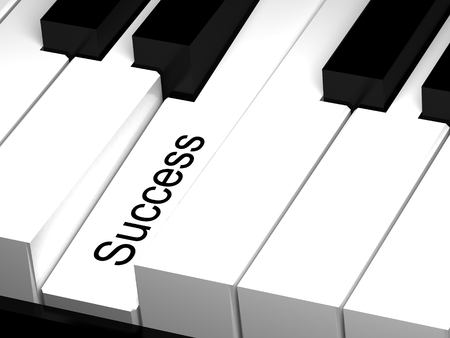 best practices: Success. Hot key on keyboard. Stock Photo