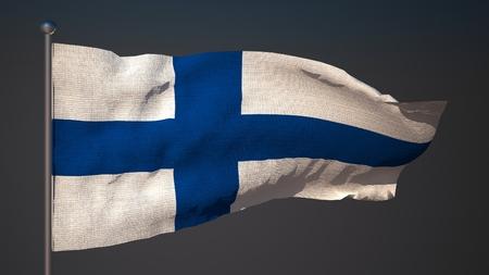 3d flag: 3D flag of Finland