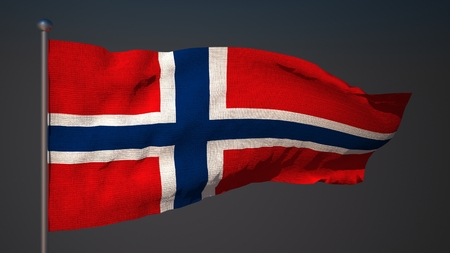 norway flag: 3D flag of Norway Stock Photo