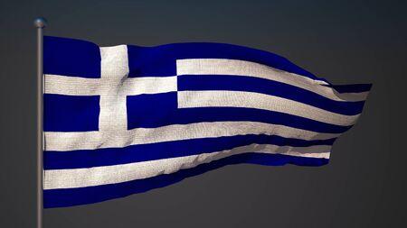 3d flag: Greek 3d flag