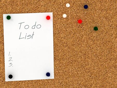 corkboard: Cork board with to do list template Stock Photo