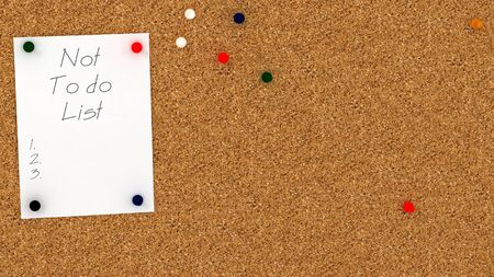 to do list: Cork board with not  do list template