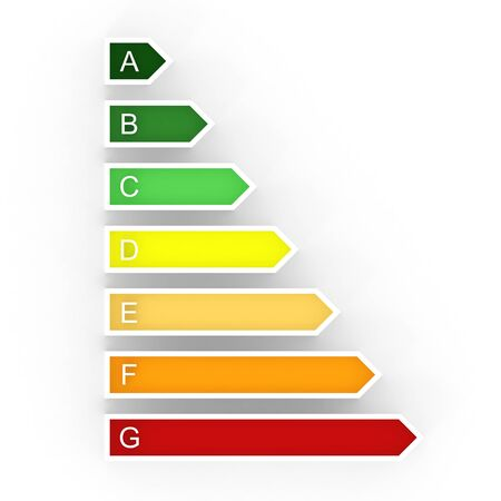 energy rating: Energy efficiency rating Stock Photo