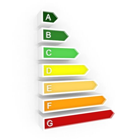 rating: Energy efficiency rating Stock Photo