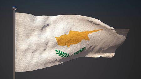 3d flag: 3D flag of Cyprus