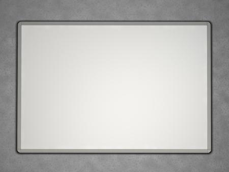 whiteboard: Blank whiteboard Stock Photo