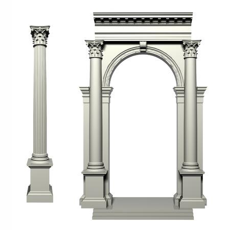 corinthian: Corinthian Greek style column Stock Photo