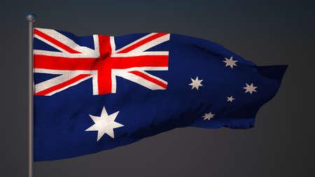 3d flag: 3d flag of Australia