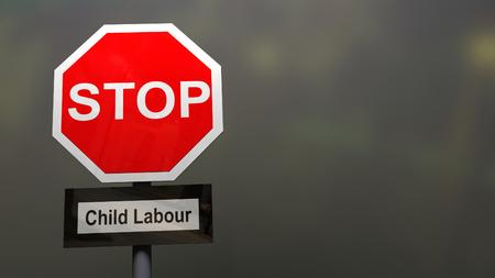 Stoppen Sie Kinderarbeitszeichen. Standard-Bild - 77080721