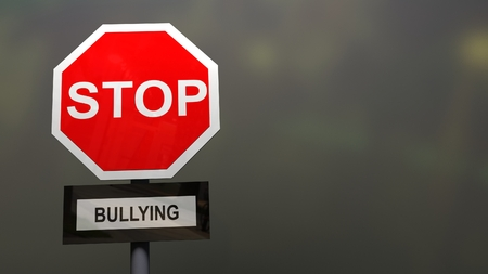 Stop bullying sign. Stock Photo