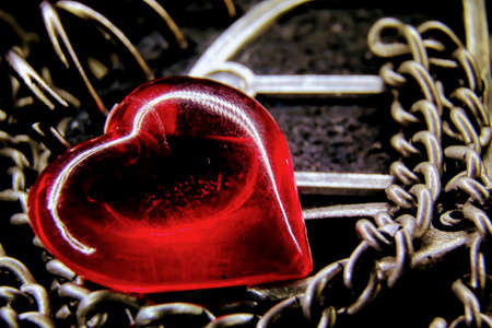 Heart on the chain Stock fotó