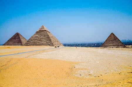 cheops: The Giza Necropolis, outside Cairo, Egypt.