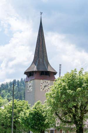 church tower: Church tower.