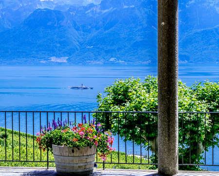 unesco world cultural heritage: The  Lavaux Vineyards near Lausanne in Switzerland.