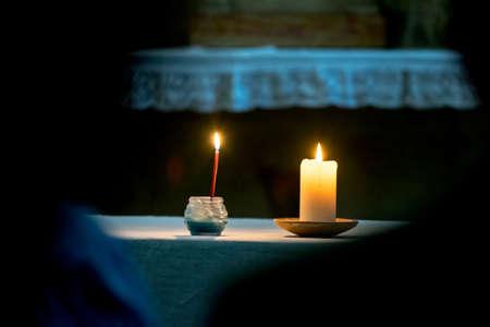 prayer candles: Jerusalem, IsraelPalestine:  Candles used during prayer service.