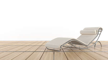 Confy chair on wooden floor