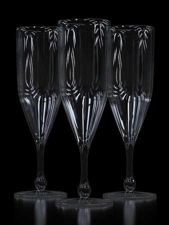 Empty champagne glasses Foto de archivo