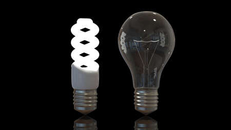 Light bulbs old and new Stock Photo