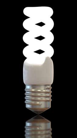Modern Light bulb against black